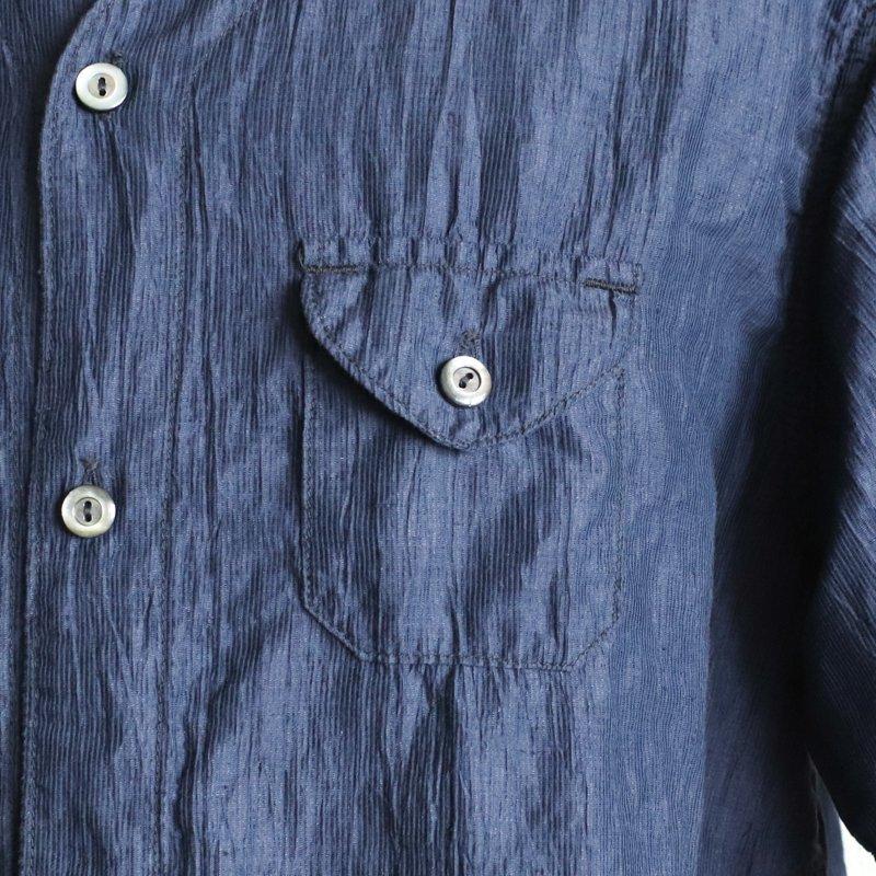 POST OVERALLS * C-POST  DV2  S/S  Crinkle Linen/Cotton  Navy