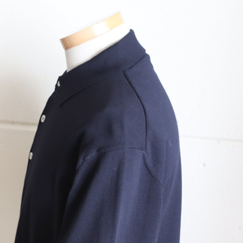 ANDERSEN-ANDERSEN * POLO SHORT Navy Blue