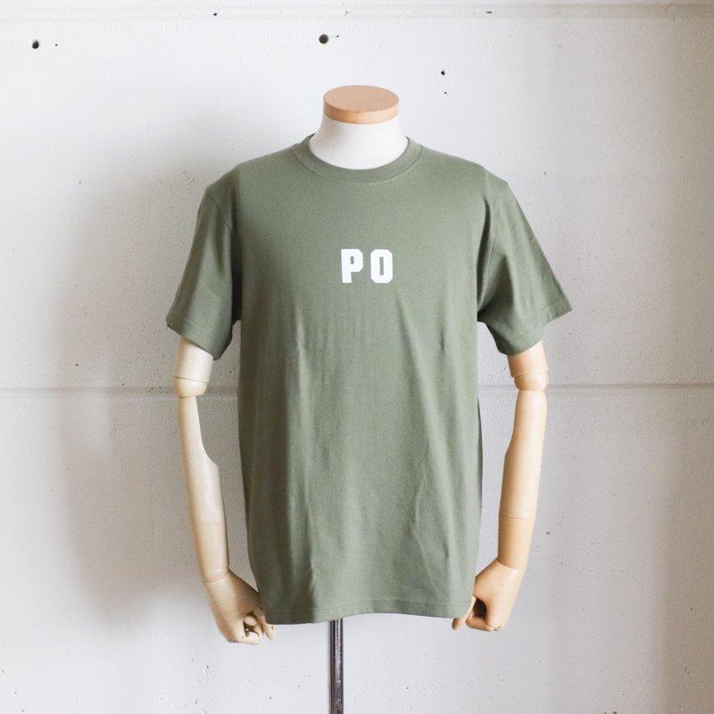 POST OVERALLS * PO LOGO TEE   Olive  x White