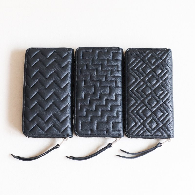 ITUAIS * RO-RO Wallet Long    Zigzag  Noir
