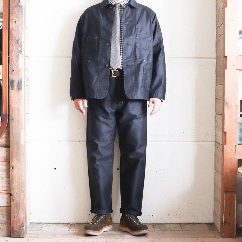 POST OVERALLS * Deluxe Railroader  Vintage Moleskin    Black