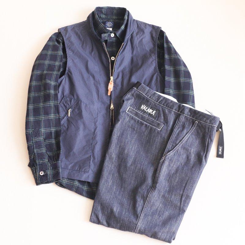 POST OVERALLS * De Luxe  Cotton Flannel   Navy x Green