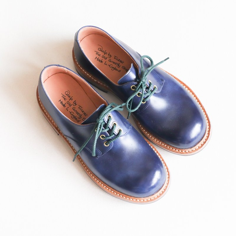 Quilp by Tricker's * Derby Plain Shoe Navy UNCLESAM Special