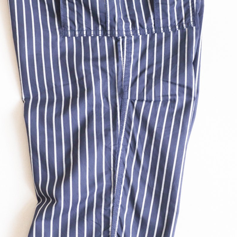 THE CORONA UTILITY * JUNGLE SLACKS Stripe Twill  Navy x Gray