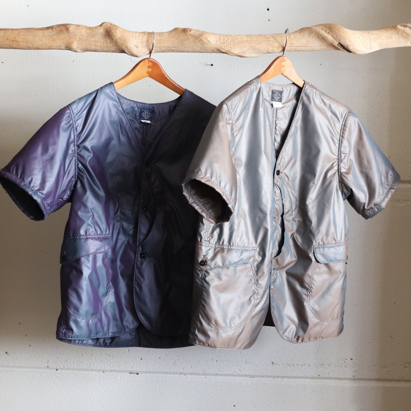 POST OVERALLS * Royal Traveler Shirt 1/2 Poly Taffeta  Navy