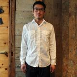 POST OVERALLS * New Light Shirt Dia dobby white