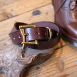 MARTIN FAIZEY * 1.25 inch Bridle leather quick release belt A.nut