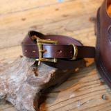 MARTIN FAIZEY 1 inch Bridle leather quick release belt A.nut