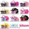【Kitson】スパンコールバッグチャーム&ファーポンポン付き携帯ストラップ/2日以降発送