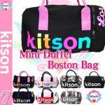 即日/【kitson】MINI DUFFLE/キットソンミニダッフルBAG/BLACK/RAINBOW/PINK