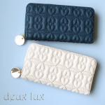 【DEUX LUX】 /デュラックス-ラブドロップ-ジップウォレット/ マットタイプ長財布
