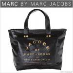 アウトレット/ワケあり マークジェイコブス【MARC BY MARC JACOBS】ブラックデニムトートバッグ