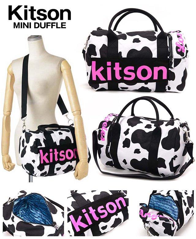 即日/【kitson】MINI DUFFLE/キットソンミニダッフルBAG/うし柄_ゆるかわいい