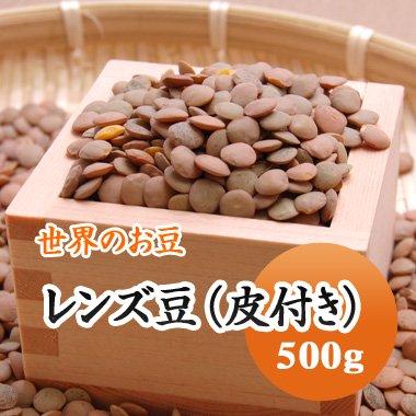 アメリカ産 レンズ豆(皮付き)(500g)