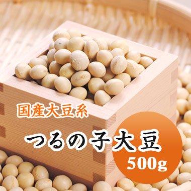 【29年産】北海道南部産 つるの子大豆(500g)