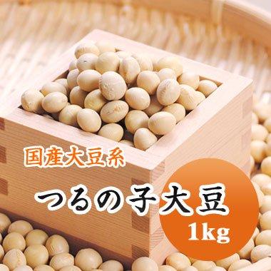【29年産】北海道南部産 つるの子大豆(1kg)