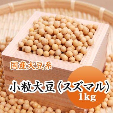 【28年産】北海道産 小粒大豆(スズマル)(1kg)