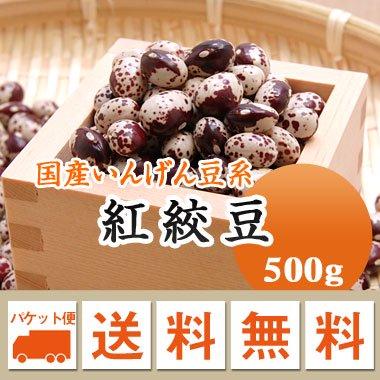 【ゆうメール便送料無料】【26年産】北海道産 紅絞豆(500g)※代引不可・同梱不可商品