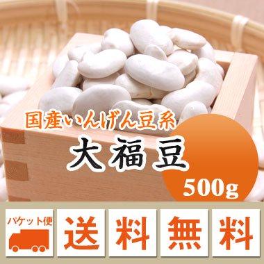 【ゆうメール便送料無料】【27年産】北海道産 大福豆(500g)※代引不可・同梱不可商品