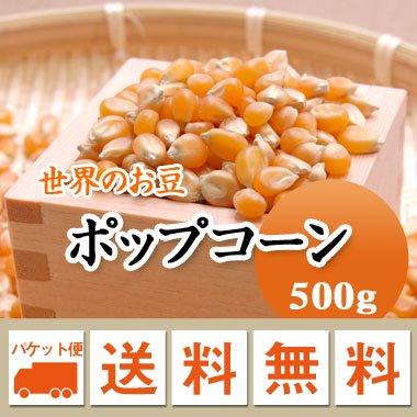 【ゆうメール便送料無料】アメリカ産 ポップコーン(500g)※代引不可・同梱不可商品