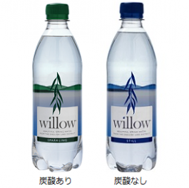 【SALE!33%OFF以上 ボトル不良商品】【送料無料】WILLOW WATER(ウィローウォーター)500ml 炭酸なし/炭酸あり