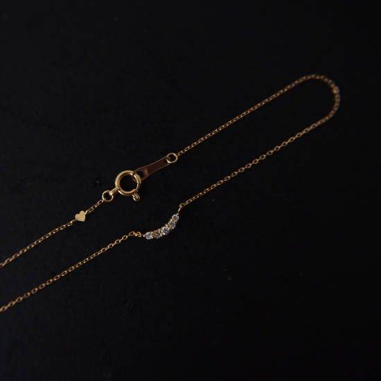 NUQUEニューク/K18YGダイヤモンド5石ブレスレット