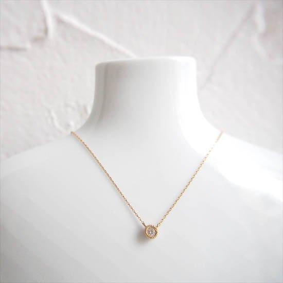 NUQUEニューク/K18YGダイヤモンド1粒ネックレス