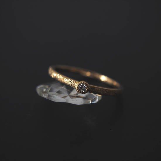 NUQUEニューク/K18YGダイヤモンド1粒スターダストリング