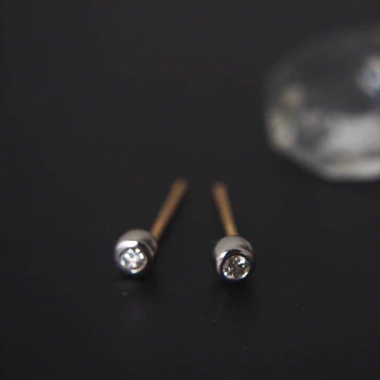 NUQUEニューク/K18YGプラチナダイヤモンドピアス