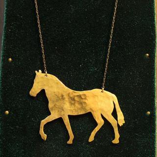 動物シルエットネックレス「馬」