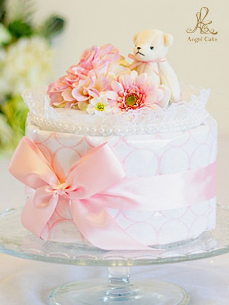 おくるみブランケットケーキ・サークルピンク