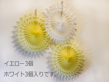 ラージファン6個セット(イエロー×ホワイト)