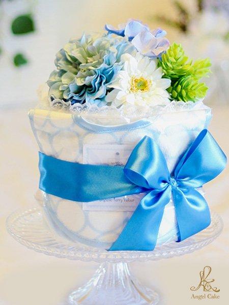 オーガニックビブ付きダイパーケーキ・ブルー
