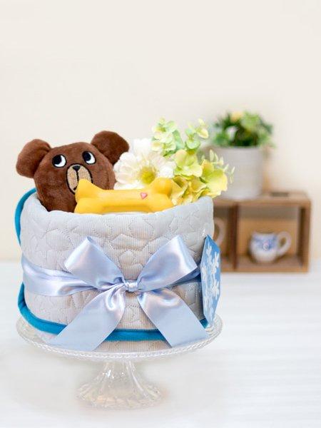 ワンちゃん用ひんやりマット付きペットシーツケーキ クマ