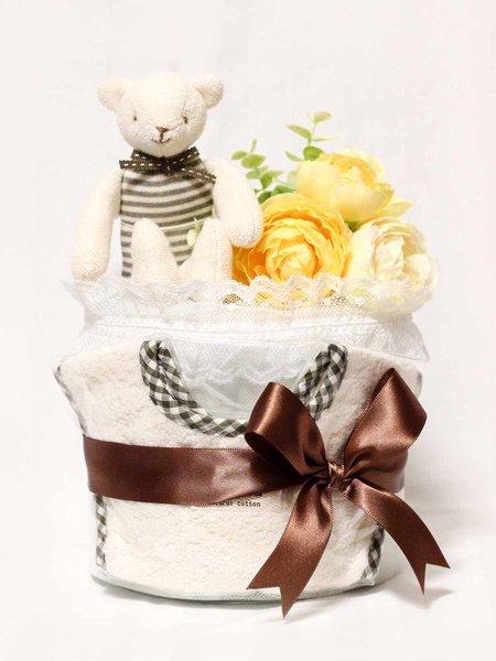 おむつケーキ「ショコラ ベア」