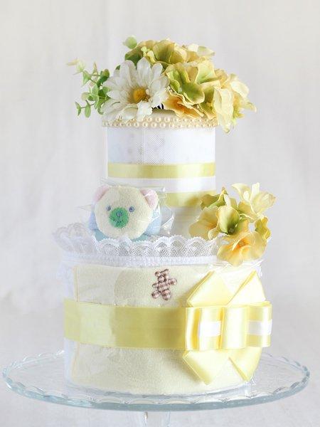 リストラトル・スタイ付きおむつケーキ「フローラ・フローラ」イエロー