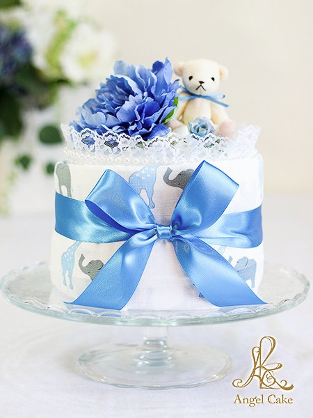 おくるみブランケットケーキ・ブルーサファリ