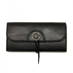 カウレザー リーフシェル 950シルバーコンチョ ロングウォレット / Cow Leather 950 Silver Concho Long wallet