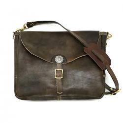 Antique Dyed Leather Concho Shoulder Bag Midium/手染め革 シェルコンチョ ショルダーバッグ