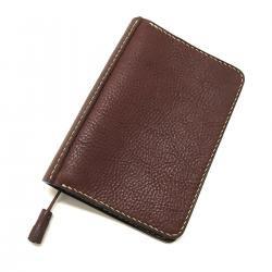 Grain Leather Hand Stitch Tassel Book Cover Choco / シボ革 ハンドステッチ タッセル ブックカバー