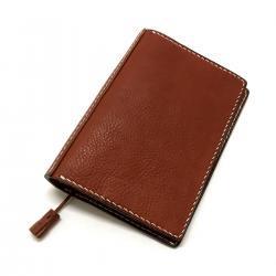Grain Leather Hand Stitch Tassel Book Cover Light Brown/ シボ革 ハンドステッチ タッセル ブックカバー ライトブラウン