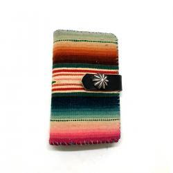 Vintage Mexican Rag iPhone case Book Flip Card Holder Case / ビンテージメキシカンラグ 手帳型アイフォーンケース スナップボタン
