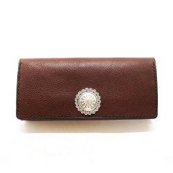 シボ革 長財布 グレインレザー ハンドステッチ ロングウォレット / Grain Leather Hand Stitch Concha Concho long wallet Mocha