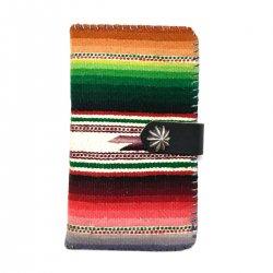 Vintage Mexican Rag iPhone case Book Flip Card Holder Case / ビンテージメキシカンラグ 手帳型アイフォーンケース グリーン