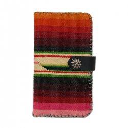Vintage Mexican Rag iPhone case Book Flip Card Holder Case / ビンテージメキシカンラグ 手帳型アイフォーンケース レッド