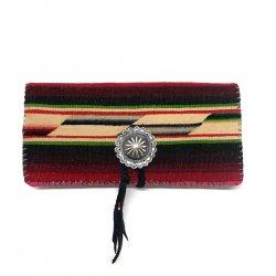 ヴィンテージメキシカンラグ 950シルバーコンチョ 長財布 / Vintage Mexican Rag Silver 950 Concho Long Wallet
