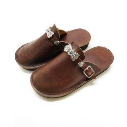 ビブラムソール 手縫い オリジナルバタフライコンチョ レザーサンダル Butterfly Concho Leather Sandal
