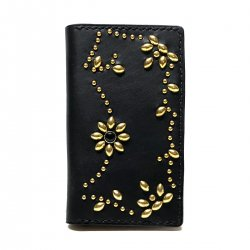 ANTIQUE DYED LEATHER iPhone 7 8 CASE BOOK FLIP CARD HOLDER CASE ARABESQUE /手染めレザー 手帳型アイフォーンケース