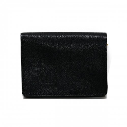 シボ革 トラッカーウォレット / Grain Leather Hand Stitch Tracker Wallet BLACK