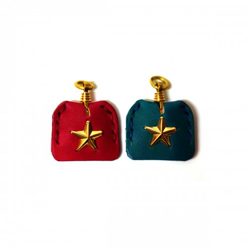 LEATHER&STUDS KEY CAP STAR / レザー&スタッズ キーキャップ スター RED/BLUE
